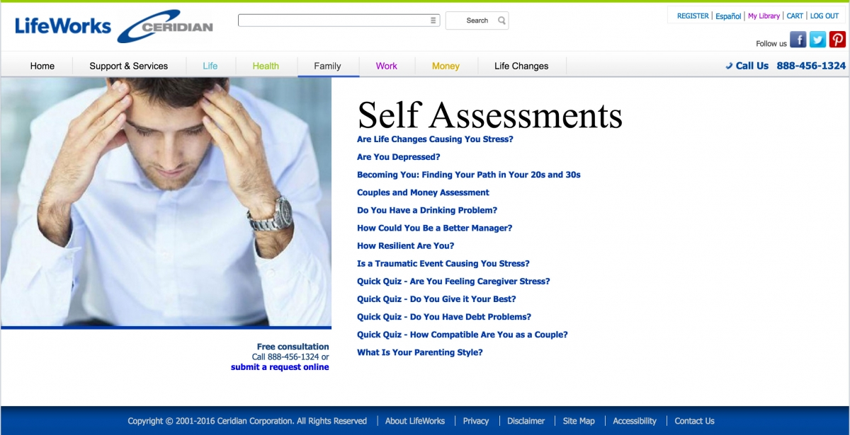 LifeWorks-self-assessment-list