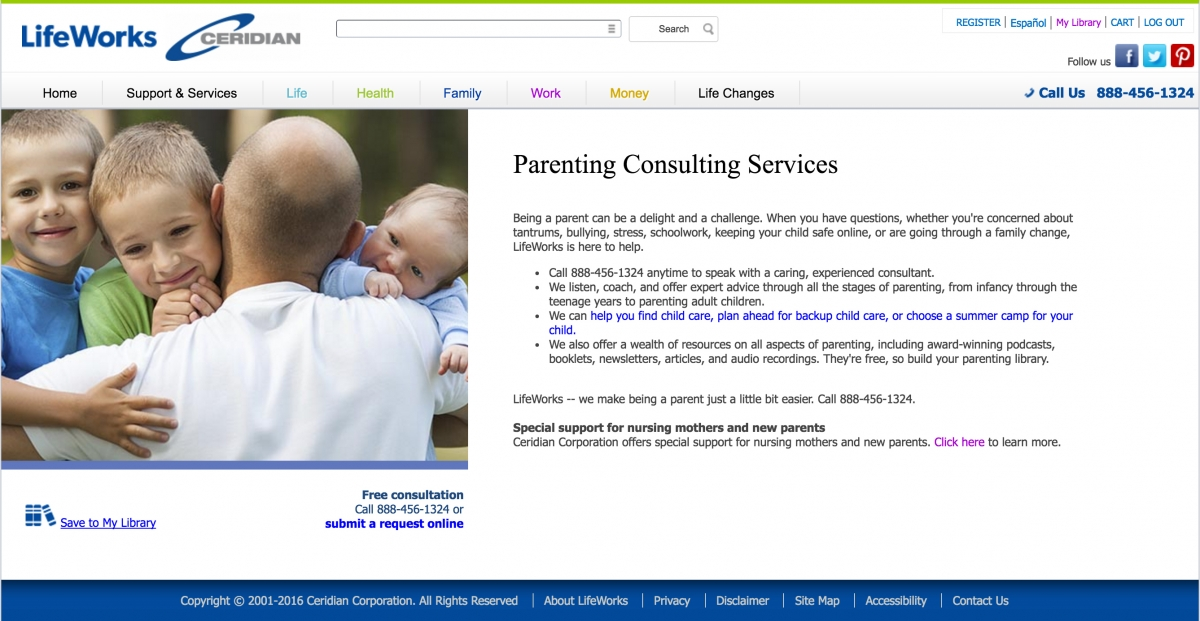 LifeWorks parenting consulting services